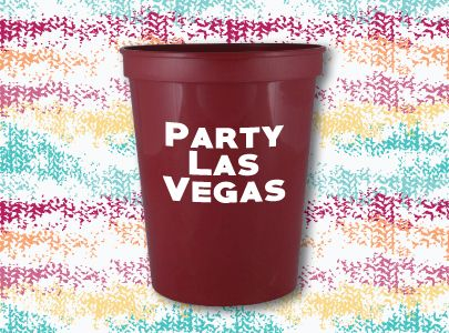 Custom Imprinted Plastic Cup for Las Vegas, Nevada